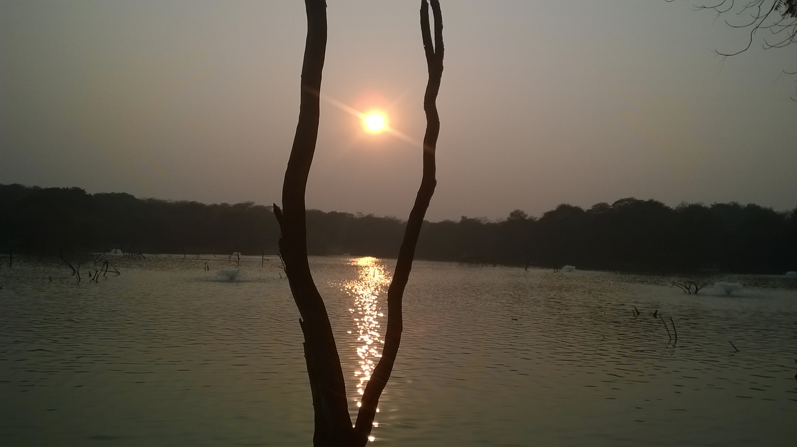 Sunset at Hauz Khas Lake
