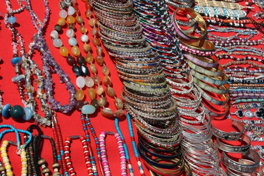 A Jewelry Display of Paharganj shop