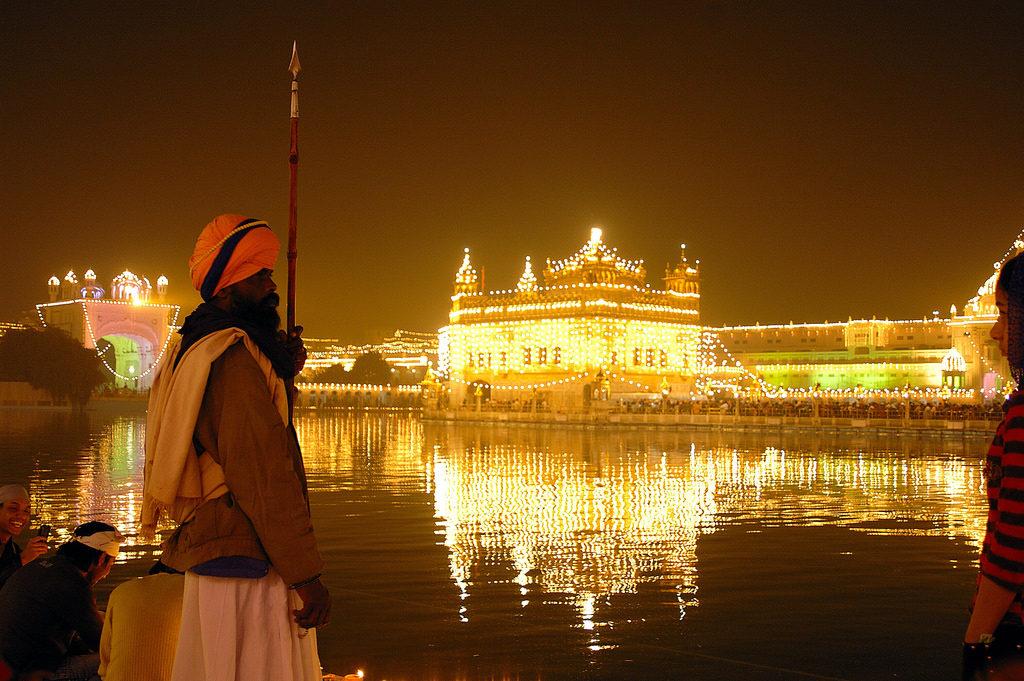 Golden Temple in Diwali