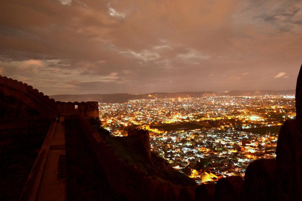 Jaipur view in Diwali night