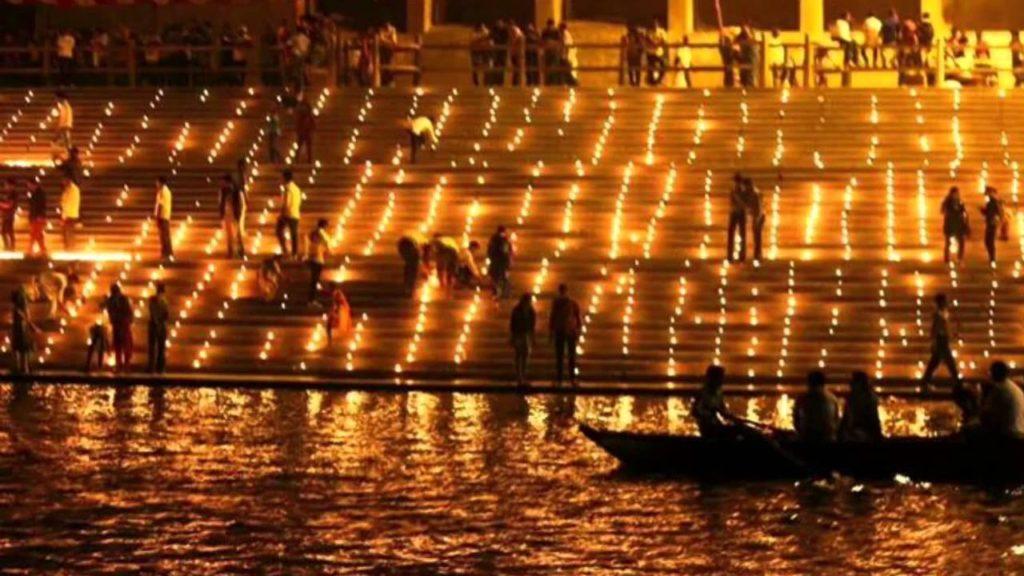Varanasi Ghat Diwali