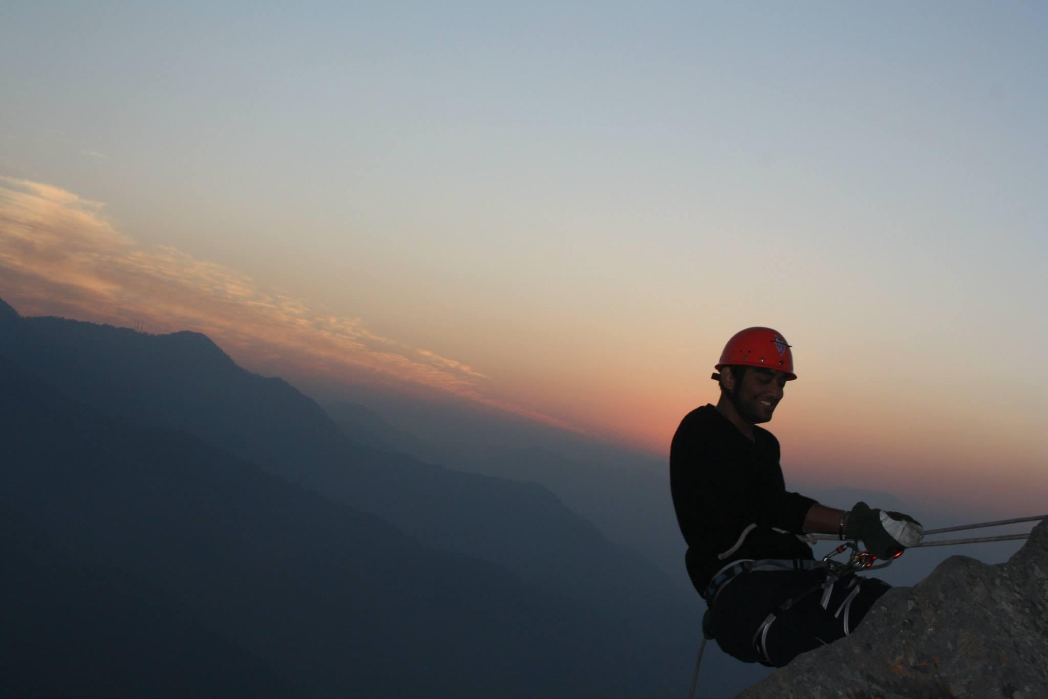 Varun Sethi while Mountaineering